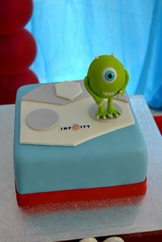 Infinity Monsters Inc cake!  See more party ideas at CatchMyParty.com!