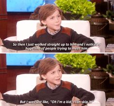 And he totally cut the line of people waiting to meet Leo.   21 Times Jacob Tremblay Totally Won Awards Season