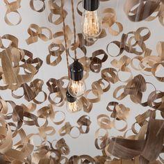 Bent wood made beautiful Tom Raffield, Mobile Chandelier, Cluster Lights, Bent Wood, Grand Designs, Sustainable Design, Made Of Wood, Flocking, Light Bulb
