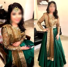 #green #nekah #style #dress #Indian #afghan