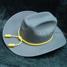 03a25eaab81 Hats and Headgear 155349  Confederate Rebel Wool Felt Hat Fully Lined Sizes  7 1 8