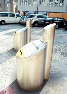 Swiss trash cans