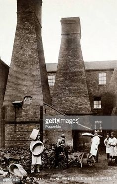 A vintage postcard showing pottery workers and the kilns where earthenware was fired near Stoke on Trent, circa 1910 Get premium, high resolution news photos at Getty Images Pottery Kiln, Old Pottery, Sites Like Youtube, Video Site, Stoke On Trent, Still Image, Tudor, Old Photos, Whimsical