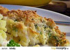 Zapečený sýrový květák recept - TopRecepty.cz Fast Dinners, Quiche, Mashed Potatoes, Cauliflower, Macaroni And Cheese, Food And Drink, Treats, Homemade, Vegetables