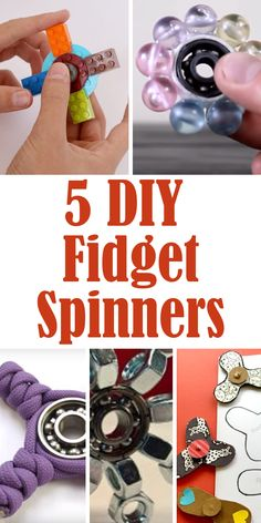 5 DIY Fidget Spinner