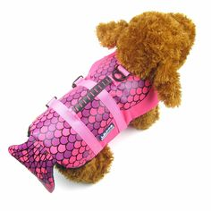 Alfie Pet by Petoga Couture - Reagan Mermaid Pet Life Jacket -Size: Medium -- See this great product. (This is an affiliate link) #CatApparel
