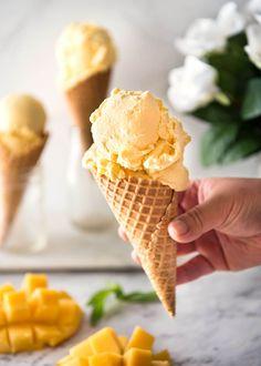 Homemade Mango Ice Cream Recipe (No Ice Cream Maker!)