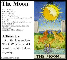 Journaling Holistic Correspondences for The Moon Tarot Card - Holistic Correspondences for The Moon Tarot Card