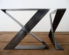 28 X-frame Flat Steel Table Legs  20 Wide Height
