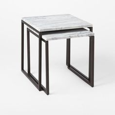 Box Frame Nesting Tables – Marble