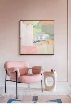 Pink Abstract, Wall Art Designs, Painting Inspiration, Diy Art, Home Art, Wall Art Decor, Decoration, Canvas Wall Art, Illustration Art