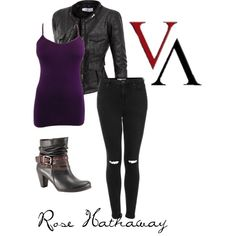 Rose Hathaway inspired- Vampire Academy by taylor-strecker on Polyvore featuring Doublju, Topshop and Pikolinos
