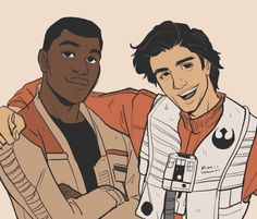 Star Wars - Poe Dameron x Finn - Stormpilot Finn Star Wars, Star Wars Art, Star Trek, Starwars, Babs Tarr, Finn Poe, Star Wars Ships, The Force Is Strong, Death Star
