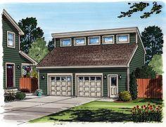 Garage Plan 30011 | Contemporary Plan, 2 Car Garage