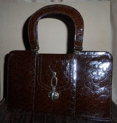 Vintage leather handbag  1970's  genuine leather by empireantiques, £30.00