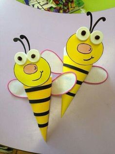 Cute bug craft for kids. Paper bumble bees