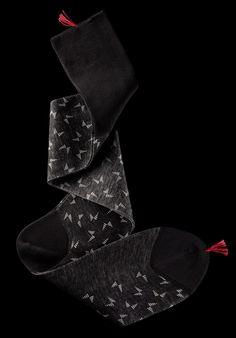 William Abraham - Luxury Socks for Men ● BLACK / PLATINUM