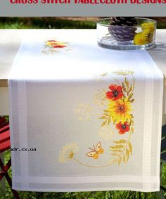 cross stitch tablecloth designs
