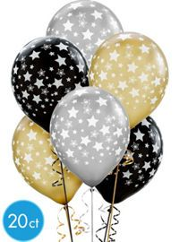 Black, Gold & Silver New Years Eve Balloons - Party City Canada