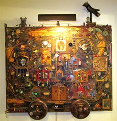 Steampunk art on canvas