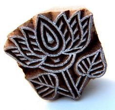 Indian wooden block  Small lotus printing stamp  Henna Mehindi stamp