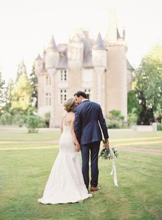 Photography : Oliver Fly Photography Read More on SMP: http://www.stylemepretty.com/2016/11/10/a-fairytale-french-castle-wedding/