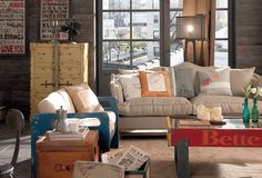 Livingroom - mix vintage industrial Sofa, Couch, Vintage Industrial, Living Room, Furniture, Home Decor, Settee, Settee, Decoration Home