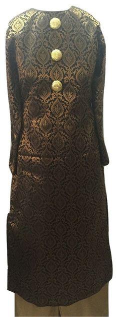 Black Brocade Suit