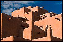Pueblo style Loreto Inn. Santa Fe, New Mexico, USA ( color)