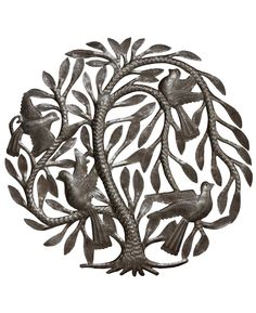 Fair trade metal art featuring the Tree of Life symbol lovingly hand crafted by Haitian artisans in the tradition of Haitian metal art