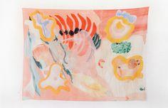 100% cotton voile scarf designed by Sydney based Lauren Elise Cassar, aka Mirador. Photo – Aaron Huges.