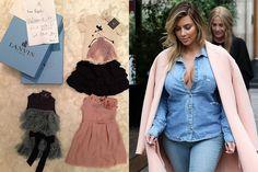 Lanvin, Celine, Alexander Wang... Kim Kardashian se ha separado por primera vez de su hija North en su viaje parisino con su pareja, Kanye West, pero no olvida a la pequeña.