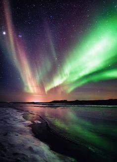 Pleiades, Jupiter & aurora