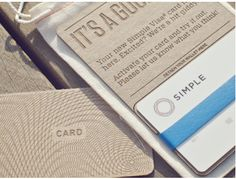 Packaging for the [Bank] Simple debit card (on Dribble) via @William_Simmons