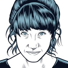 Charles Burns portraits for The Believer magazine are distinctive and subscribers/readers instantly associate these headshot illustrations with the magazine. Strong line work and contrast, occasional spot colour to add depth