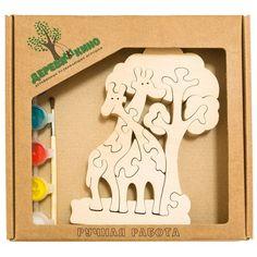 """Развивающая игрушка """"Жирафы и дерево"""" с красками"""