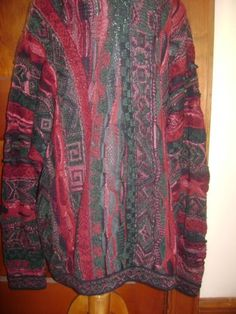 Authentic-Coogi-Australia-Mens-Sweater-X-Large-Cosby-Christmas-Colors