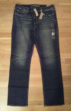 NWT American Eagle women's SUPER STRETCH Straight jeans size 18 L! Dark wash  #AmericanEagleOutfitters #StraightLeg Make an offer!