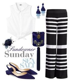 """Sundowner Sunday's"" by jalouze ❤ liked on Polyvore featuring Oscar de la Renta and Paul Andrew"