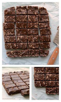 Healthy No Bake Snack Bar Recipe - Make these for your snack today (and then eat them for breakfast tomorrow too!) http://www.superhealthykids.com/healthy-no-bake-snack-bars/