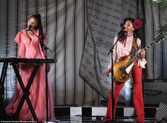 Seal of approval: Beyonce's proteges Chloe X Halle performed their song Drop...