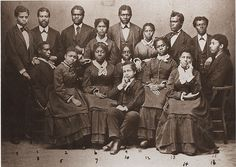"""Title Hampton Singers  Subject Students  Description Hampton Singers Who Gave a Performance in Virginia Hall.  Author/Creator [Unknown]  Date.Original 1874  Holding Library Univeristy Archives at Hampton University  Learn more about African American History and Photography at """"Through A Lens Darkly"""" TALD documentary and multimedia project - Digital Diaspora Family Reunion DDFR www.DDFR.tv Chimpanzee Productions, Inc."""