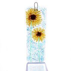 Sunflowers fused glass wall art suncatcher teachers gift presents flower christmas xmas stocking fillers secret santa house mom mum birthday by TheFusedGlassGarden on Etsy https://www.etsy.com/listing/91792702/sunflowers-fused-glass-wall-art