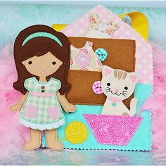 In The Hoop Doll Maggie - Planet Applique Inc Machine Embroidery Projects, Applique Embroidery Designs, Embroidery Files, Embroidery Store, Operation Christmas Child, Soft Dolls, Felt Crafts, Paper Dolls, Fabric Dolls