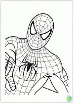 Spiderman coloring pages- DinoKids.org