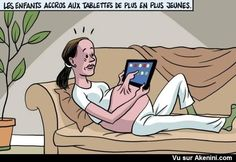 Les enfants accros aux tablettes de plus en plus jeunes - Children addicted to tablets increasingly young