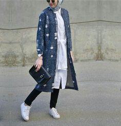 Elifd0gan Modern Hijab Fashion, Abaya Fashion, Muslim Fashion, Modest Fashion, Girl Fashion, Hijab Casual, Hijab Style, Hijab Chic, Simple Outfits