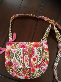 VERA BRADLEY Little Flap Hipster Bag Handbag Crossbody Lizzy Folkloric #VeraBradley #Crossbody