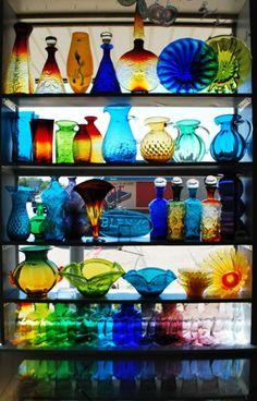 A colorful glass menagerie!
