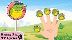 Lollipop Peppa Pig Ninja Turtles Finger Family \ Nursery Rhymes Lyrics and